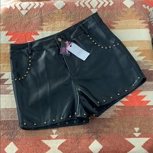 LoveRiche faux leather studded size L!